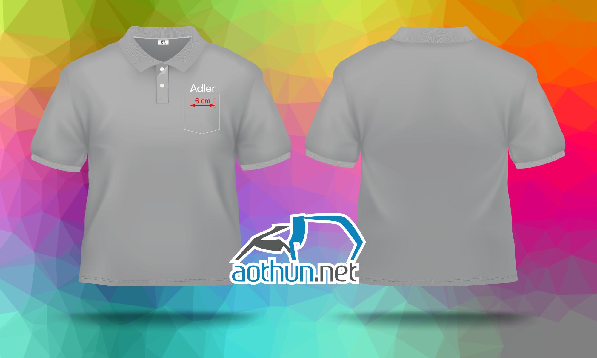Áo thun đồng phục cao cấp thêu logo Adler