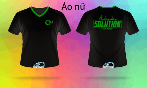 In đồng phục áo thun cổ tim Automotive Solution