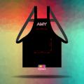 May tạp dề đeo vai cho nhân viên Cafe Amy