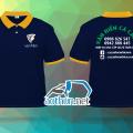 May áo thun polo xanh đen - VĂN HIẾN CÁ CẢNH