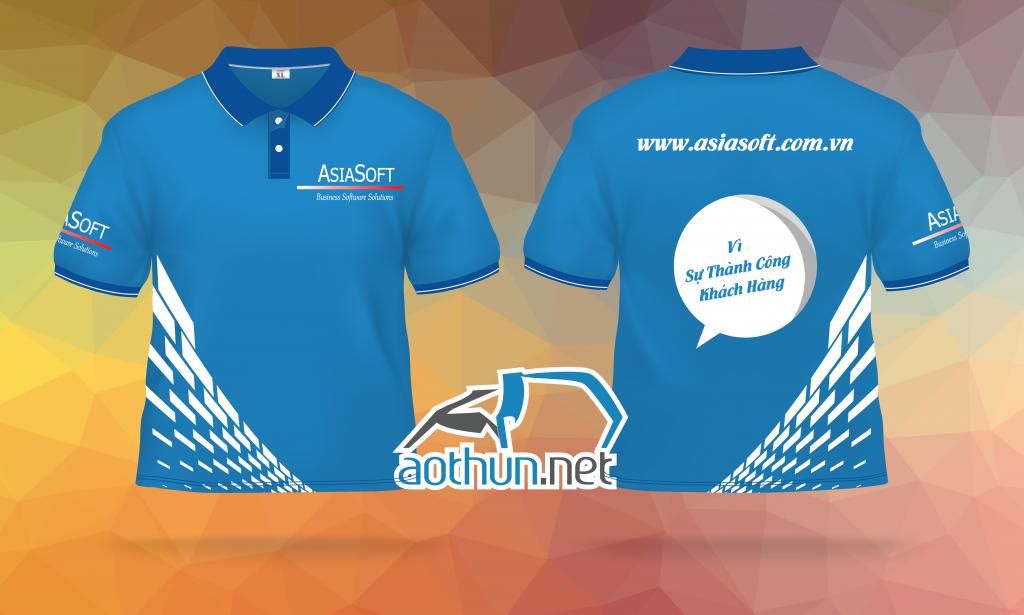 Áo thun đồng phục công ty phần mềm Asia Soft ở Gò Vấp