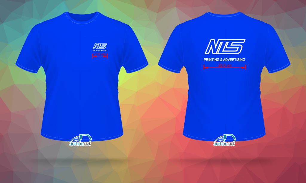 In áo thun cổ tròn xanh bích - NTS Printing & Advertising
