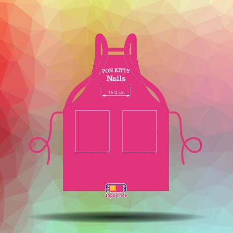 In tạp dề đồng phục đẹp Pon Kitty Nails
