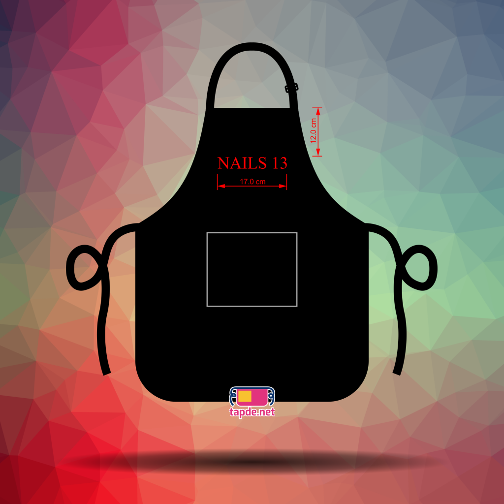 May tạp dề đồng phục màu đen nhân viên tiệm Nails 13
