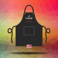 May tạp dề đồng phục nhanh và đẹp cho chuỗi cửa hàng Laha Cafe