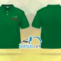 Việt kiều Pháp đặt may áo thun đồng phục polo xanh két - Ongles D'Asie