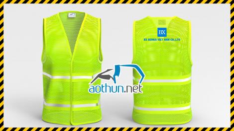 Áo phản quang công trình Công ty BX Bunka
