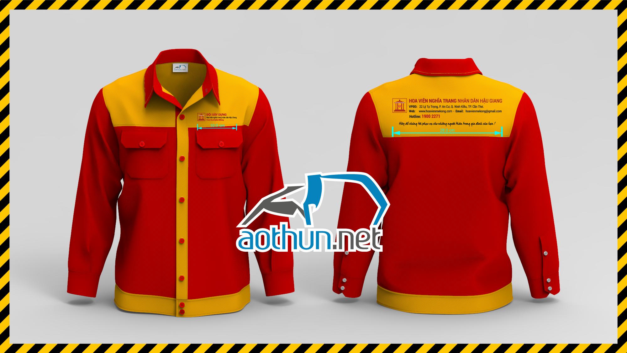 Đồng phục bảo hộ lao động Công nhân Hoa viên Nghĩa Trang Nhân Dân Hậu Giang