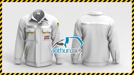 Đồng phục bảo hộ lao động tay dài công nhân Vinfast