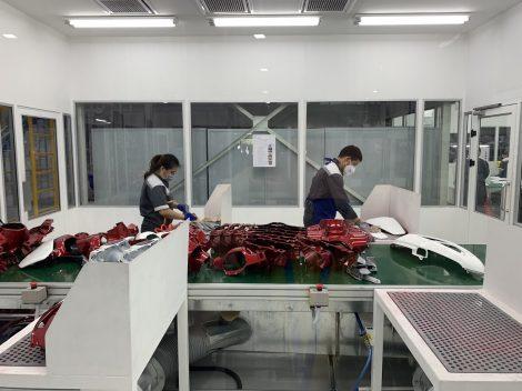 Đồng phục bảo hộ lao động tay ngắn công nhân Nhà máy Vinfast