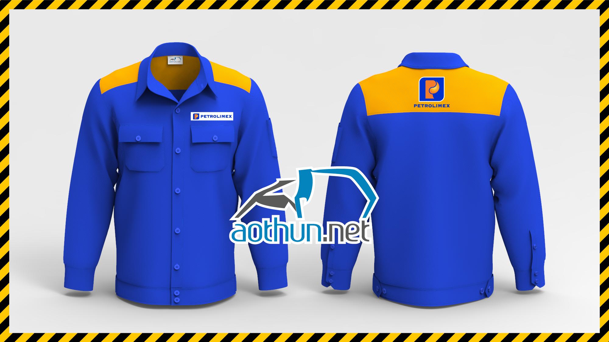Đồng phục bảo hộ lao động nhân viên Xăng Dầu Petrolimex