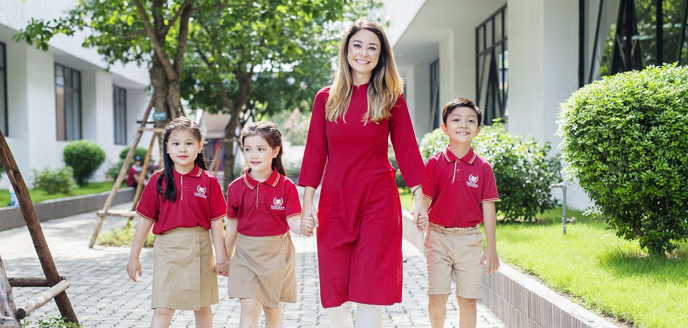 Áo thun đồng phục học sinh trường Vinschool
