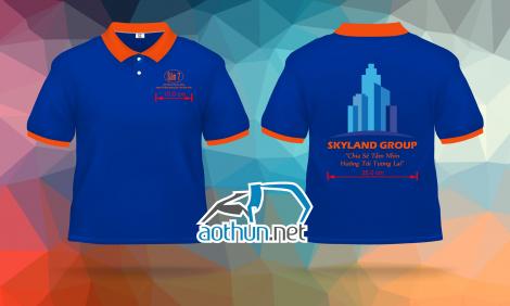 In áo thun đồng phục cho công ty bất động sản Skyland Group tại Quận 7
