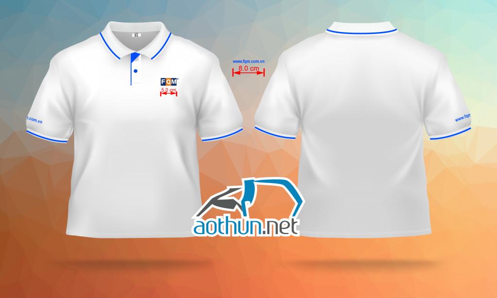In áo thun đồng phục đẹp chất lượng cao cho Công Ty FQM tại Quận 1