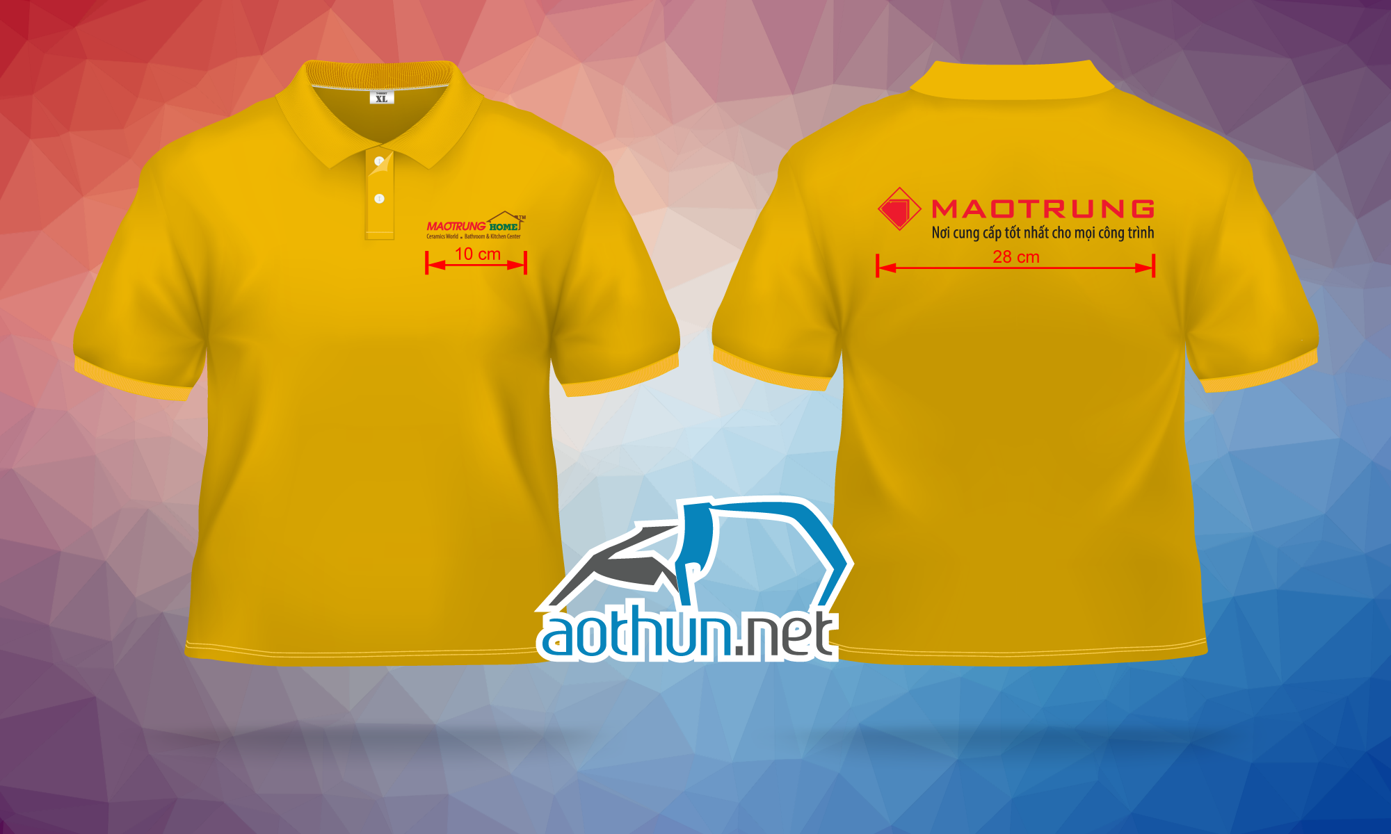 In áo thun đồng phục giá tốt chất lượng cao cho Công Ty Mao Trung tại Quận 10