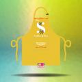 In cắt decal logo cho tạp dề đồng phục Quán The S Coffee & Tea tại Quận 3