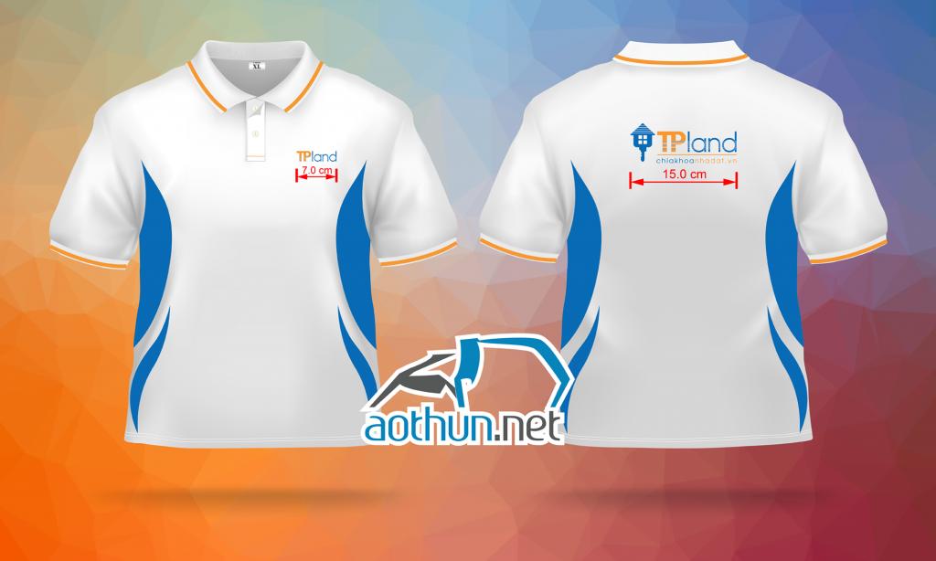 In chuyển nhiệt áo thun đồng phục Công ty địa ốc TP Land ở Hà Nội