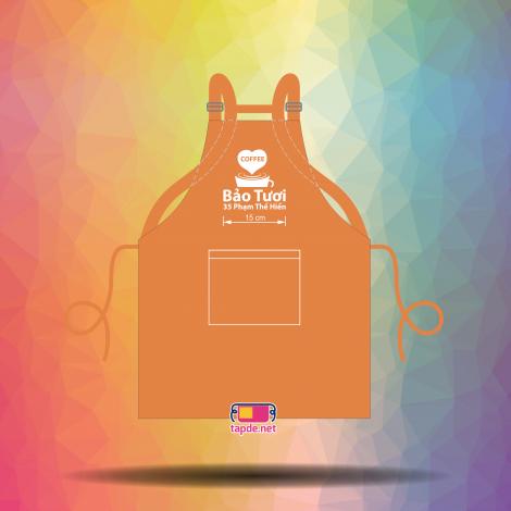 In tạp dề đồng phục chất lượng cao mẫu mã đẹp cho cửa tiệm Coffee Bảo Tươi tại Quận 8