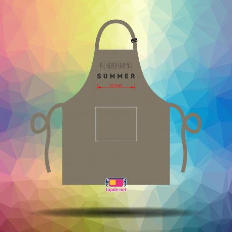 In tạp dề đồng phục giá tốt chất lượng cao cho quán The Never Ending Summer tại Quận 10