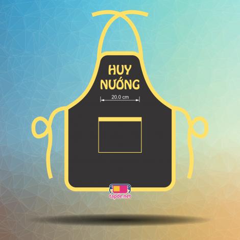 In tạp dề đồng phục giá tốt chất lượng cao Quán Ăn Huy Nướng tại Hà Nội