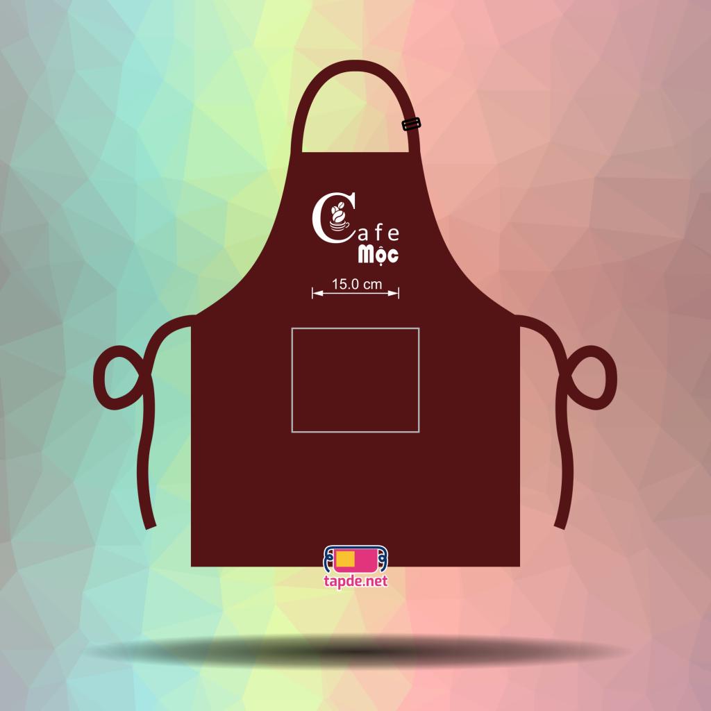 In tạp dề đồng phục nhân viên giá tốt và đẹp cho cửa tiệm Cafe Mộc