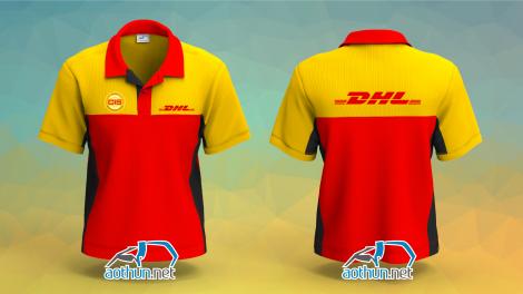 Mẫu thiết kế áo thun đồng phục DHL Express