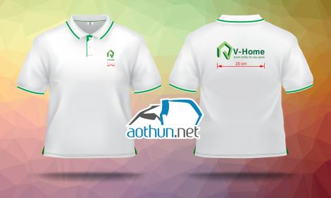May áo thun đồng phục đẹp cho Công ty nội thất V-Home tại Hà Nội