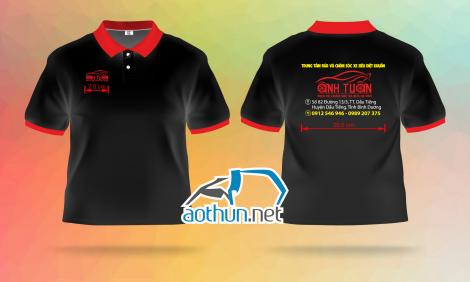 May áo thun đồng phục giá tốt chất lượng cao cho Trung tâm rửa xe Anh Tuấn tại Bình Dương