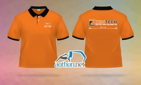 May áo thun đồng phục giá tốt cho Công Ty Zentech tại Quận 12