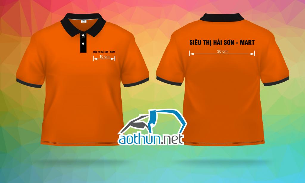 May áo thun đồng phục mẫu đẹp và nhanh chóng cho nhân viên Siêu Thị Hải Sơn