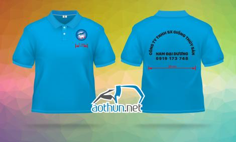 May áo thun đồng phục mẫu mã đẹp chất lượng cao cho Công Ty TNHH Sản Xuất Giống Thủy Sản Nam Đại Dương tại Cần Thơ