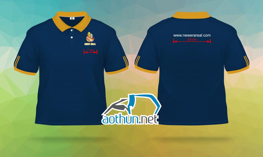 May áo thun đồng phục mẫu mã đẹp chất lượng tốt cho Công ty Bất Động Sản New Era Real tại Quận Tân Bình