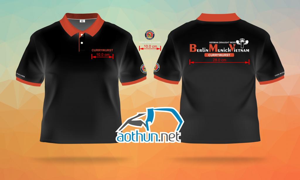 May áo thun đồng phục nhân viên giá rẻ và đẹp cho quán cafe Berlin Munich Vietnam tại Quận 1