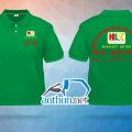 May áo thun đồng phục polo xanh két nhanh và đẹp cho thành viên Hội Lái Xe - Hòa Bình