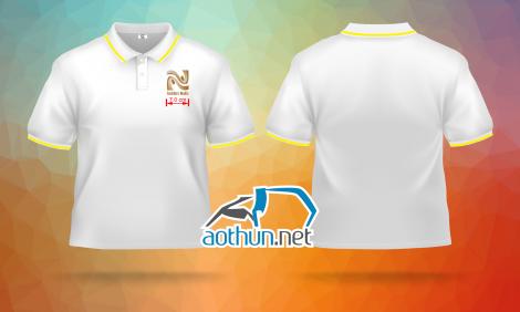 May áo thun đồng phục trắng giá tốt và đẹp cho cửa tiệm Golden Nails