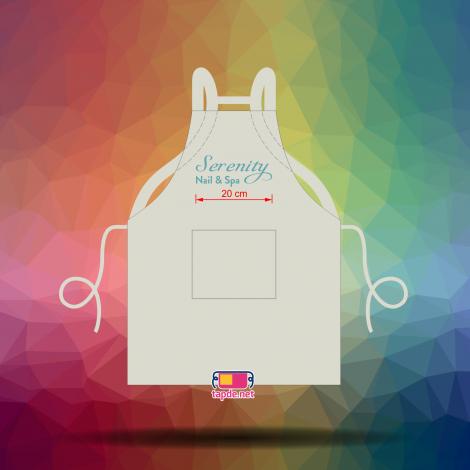 May đồng phục tạp dề đeo vai nhanh và chất lượng tốt cho cửa tiệm Serenity Nail Spa