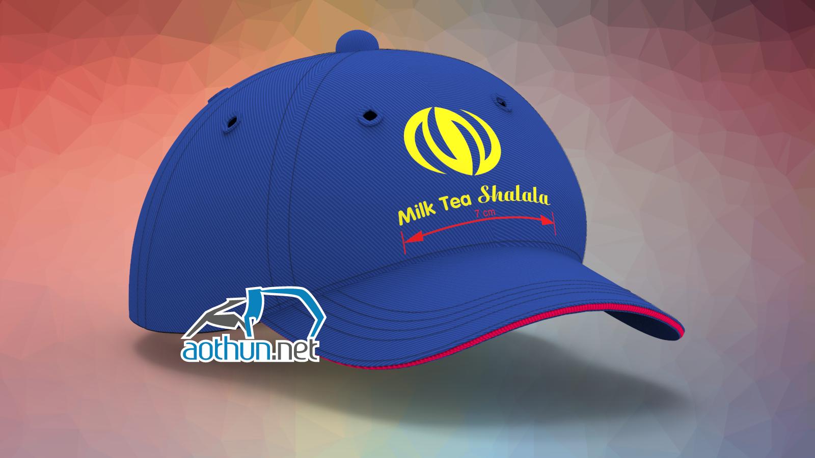May nón lưỡi trai đồng phục mẫu đẹp chất lượng cho quán Trà Sữa Shalala tại Quận 7