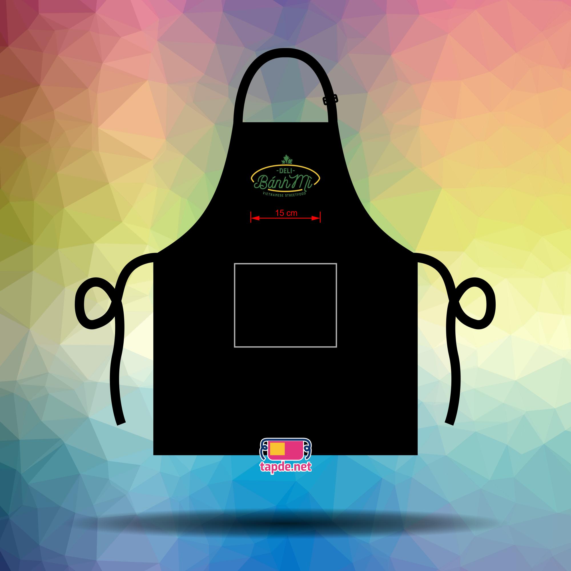 May tạp dề đồng phục giá tốt cho cửa tiệm Bánh Mì Deli