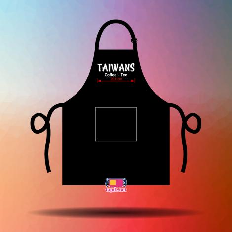 May tạp dề đồng phục mẫu mã đẹp chất lượng cao cho quán Taiwans Coffee Tea
