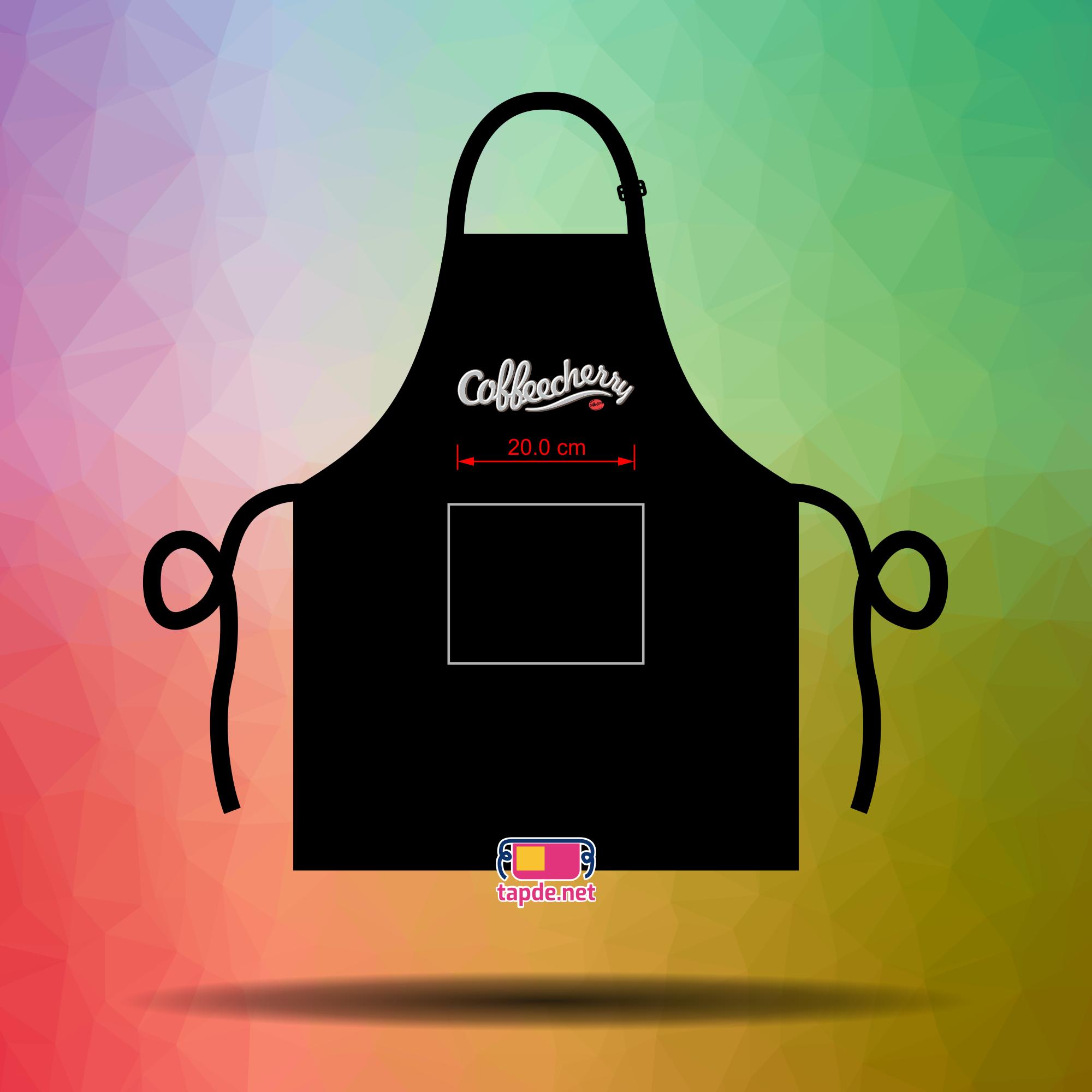 May tạp dề đồng phục nhân viên giá rẻ và đẹp cho quán Coffee Cherry tại Quận 1