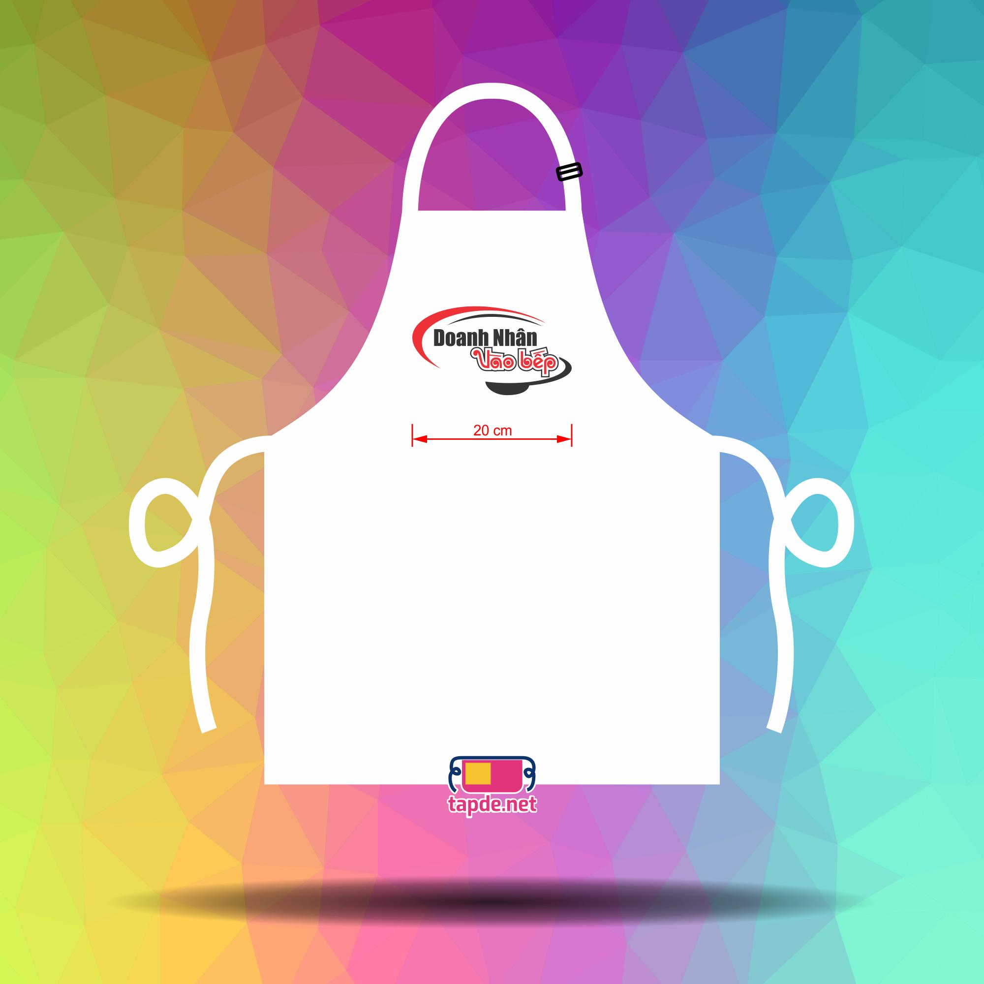 May tạp dề mẫu đẹp chất lượng cho cuộc thi Doanh Nhân Vào Bếp