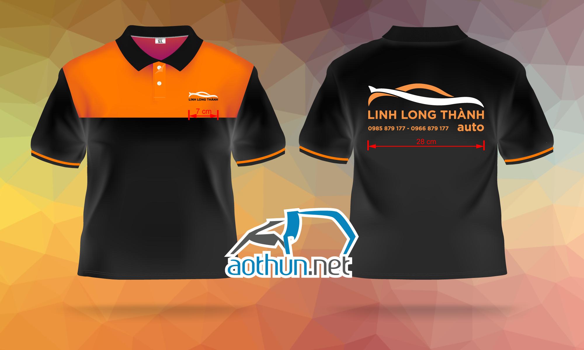 Áo thun đồng phục nhân viên Công Ty Nội Ngoại Thất Linh Long Thành Auto tại Đồng Nai