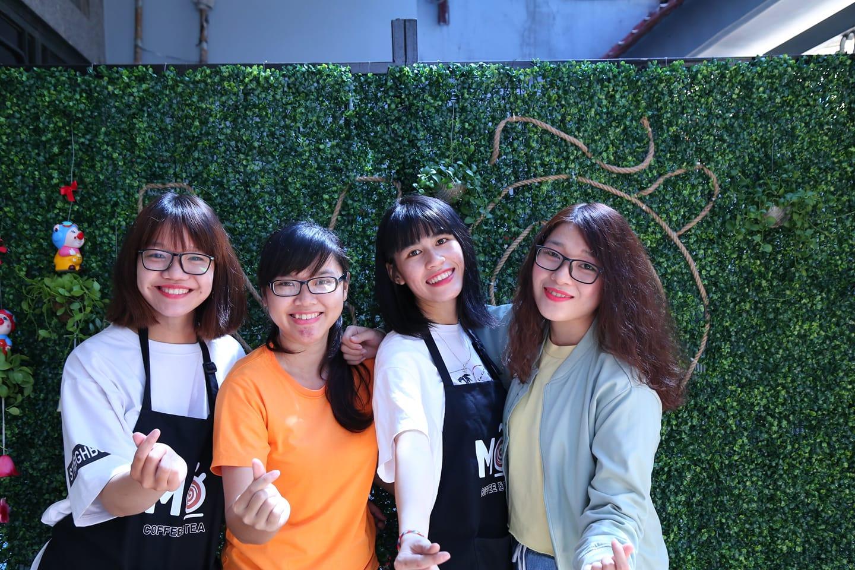 Đồng phục tạp dề nhân viên quán Mỡ Coffee & Tea tại Quận Tân Bình