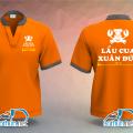 In đồng phục áo thun cổ tàu nhân viên Quán Lẩu Cua Xuân Đức tại Gò Vấp
