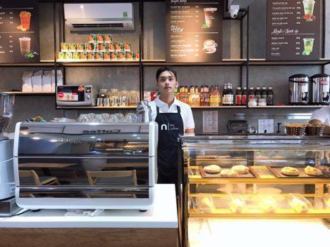 In tạp dề đồng phục nhân viên Quán Nini Coffee tại Rạch Giá