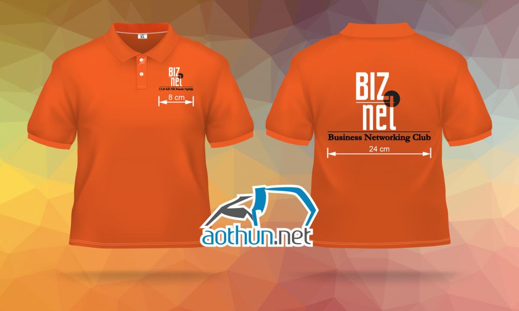May đồng phục áo nhóm thành viên CLB Biz Net