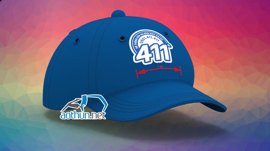 Nón đồng phục thêu logo cho nhân viên hệ thống Sửa Xe 411