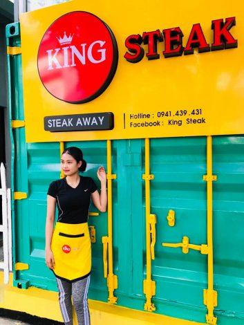 Tạp dề đồng phục nhân viên Quán King Steak tại Đồng Nai - 4