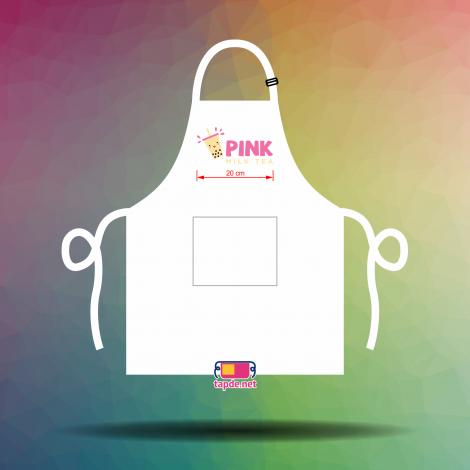 Tạp dề đồng phục nhân viên Quán trà sữa Pink