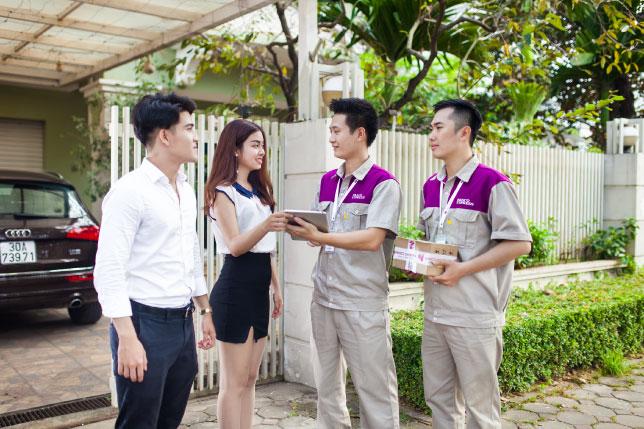 Áo bảo hộ đồng phục nhân viên Dịch Vụ Chuyển Phát Nhanh Nasco ở Hà Nội 14
